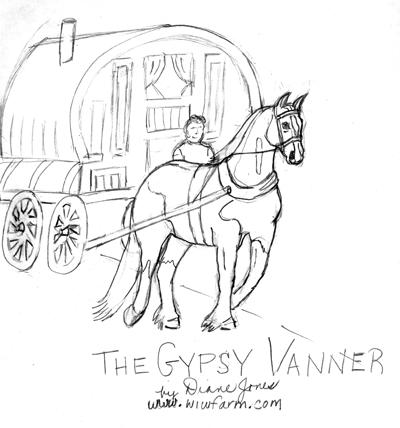 gypsy coloring pages - the gypsy vanner